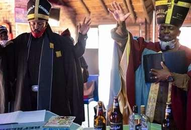 La celebración de la misa. Foto AFP