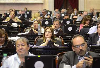 La diputada argentina de PRO Carmen Polledo en sesión