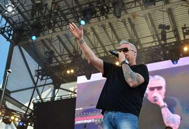 El vocalista Steve Harwell. Foto La Tercera