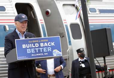 El candidato demócrata. Foto AFP