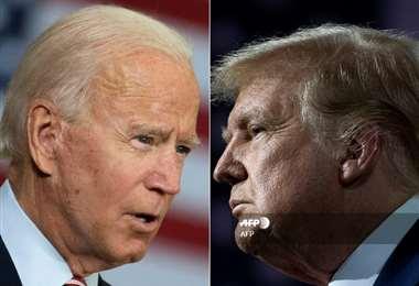 Biden y Trump. Foto AFP