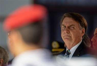 Bolsonaro molesto con las declaraciones de Biden. Foto AFP