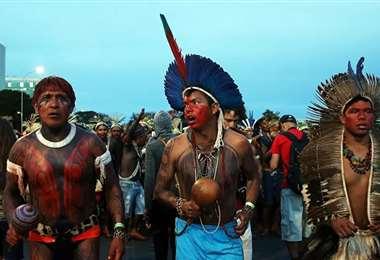Marcha de indígenas brasileños. Foto Sputnik