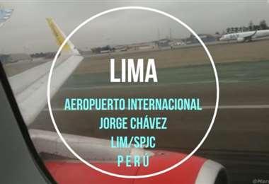 El aeropuerto de Lima, Jorge Chávez. Foto Internet