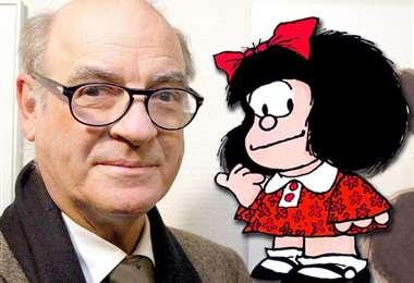 Quino y su hija Mafalda. Foto Internet
