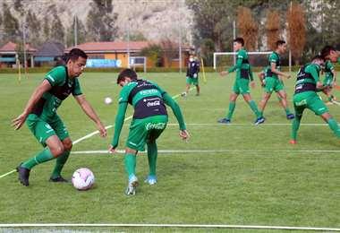 La selección se entrena en La Paz. Foto: Prensa FBF