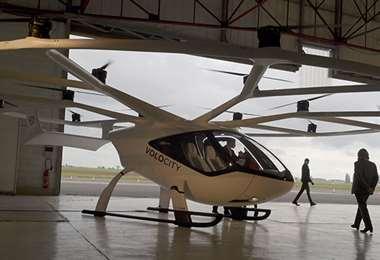 Un auto volador. Foto Internet