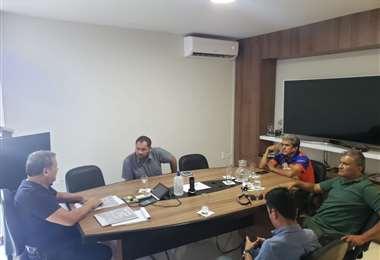 La reunión de este martes de Fabol con el Viceministro de Deportes. Foto: Fabol