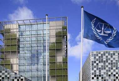 Frontis de la CPI en La Haya.