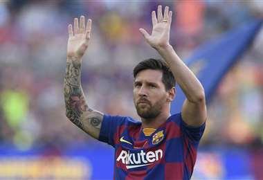 Messi mantiene su deseo de dejar el Barcelona. Foto: AFP