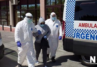 Una paciente llega a un hospital de Madrid. Foto Internet