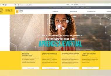 Nueva página web de la Universidad Católica Boliviana
