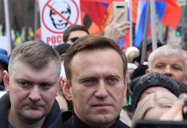 Navalni se halla hospitalizado en Alemania. Foto AFP