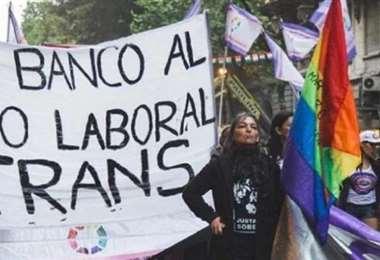 Protesta de homosexuales en Buenos Aires. Foto Internet