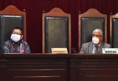 La audiencia que dirigió el vocal, René Delgado (Foto:APG Noticias)
