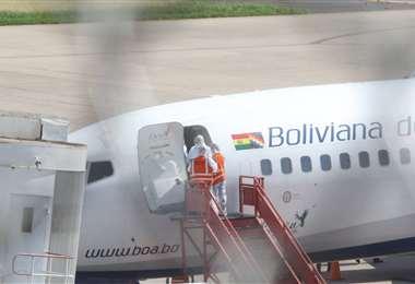 La línea aérea estatal busca un respiro financiero (Foto: Ricardo Montero)