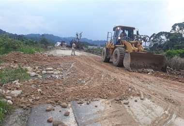 Este tramo de Villa Tunari se hizo trabajos de limpieza (Foto: ABC)