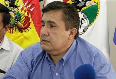 Robert Blanco, presidente de la Federación Boliviana de Fútbol. Foto: El Deber