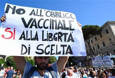 La protesta en Roma. Foto AFP