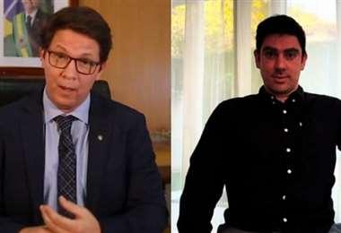 Mario Frias y Marcelo Adnet. Foto Internet