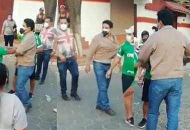Momento del enfrentamiento (Capturas de video)