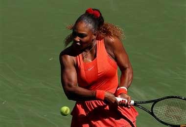 Serena Williams se instala una vez más en octavos de final de este torneo. Foto. AFP