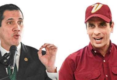 Guaidó y Capriles, enfrentados. Foto Internet