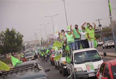 La caravana recorrió distintas zonas de la capital