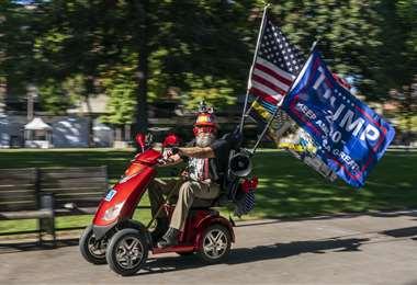Un partidario de Trump en Washington. Foto AFP