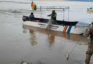 La búsqueda en el río Beni I Armada.