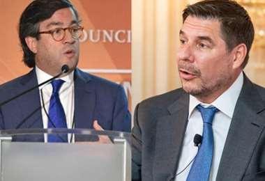 Luis Alberto Moreno, presidente del BID y Marcelo Claure, Softbank Group International