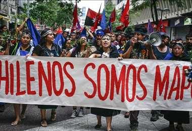 Protesta en la región mapuche. Foto Internet