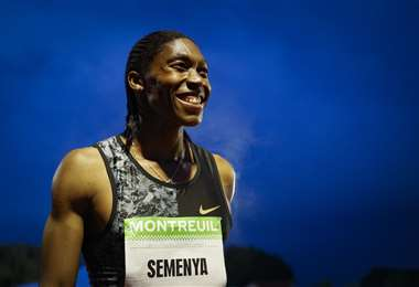 Caster Semenya, atleta sudafricana que destacó en el Mundial de 2009. Foto: AFP