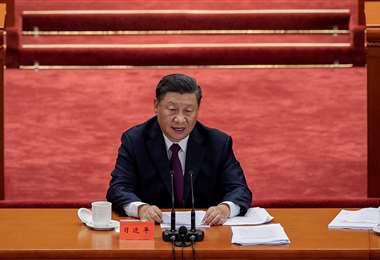 Xi se refirió a la pandemia. Foto AFP