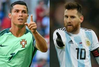 Cristiano Ronaldo y Lionel Messi, dos crack del fútbol. Foto: Internet