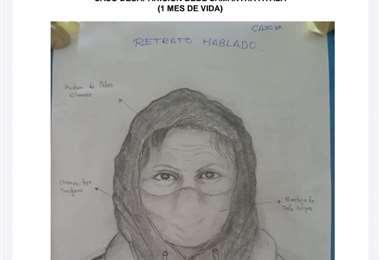 El retrato hablado de la sospechosa I Policía.