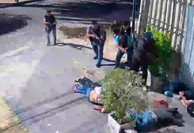 Escena del momento de la balacera ocurrida en julio de 2017. Foto. EL DEBER
