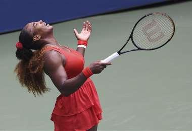 Serena Williams en pleno festejo. Foto: AFP