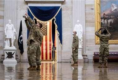 El Capitolio, bajo fuerte control de la Guardia Nacional de EEUU/Foto: AFP