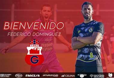 Federico Domínguez, la nueva contratación de Guabirá. Foto: club Guabirá