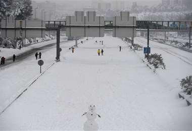 Madrid cubierta de nieve/Foto: AFP