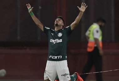 El partido de ida quedó 0-3, a favor del Palmeiras. Foto: AFP