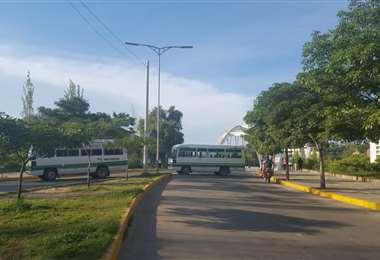 Bloqueo de transportistas en Tarija