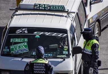 Controles al transporte en La Paz I AMN.
