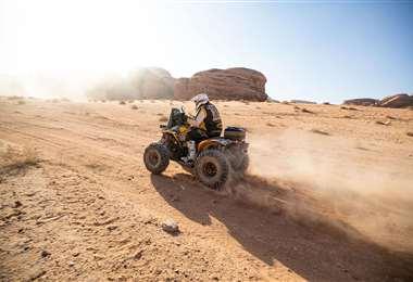 Leonardo Martínez terminó este martes la etapa 9 del Dakar. Foto: LM