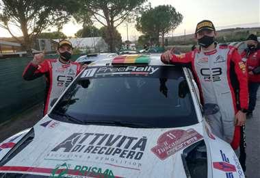 Bulacia (der) y Der Ohannesian en el pasado rally de Monza. Foto: Marlene Peña