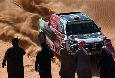 Al-Rajhi en acción. Foto: AFP