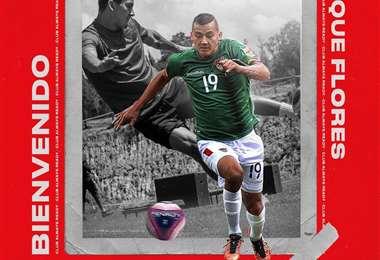 La bienvenida de Always Ready a Enrique Flores. Foto: club AR