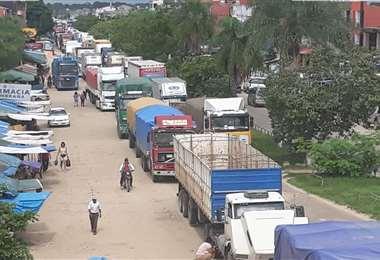 En Yapacaní, el bloqueo se intensificó en las últimas horas