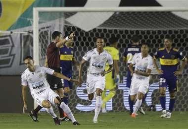 El festejo de Diego Pituca tras su gol. Foto: AFP